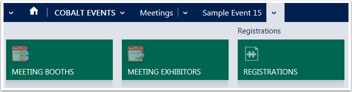 Open the meeting and use the Menu Tiles to navigate to Meeting Booths.