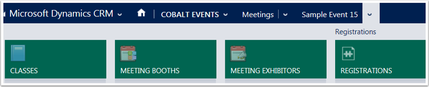 Open the meetingfor which you would like toadd an exhibitor and navigate to Meeting Exhibitors.