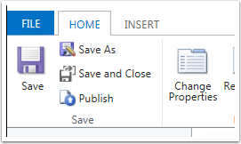 Click Save and then Click Publish.
