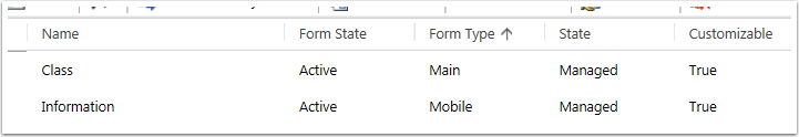 Select the Form you want to add the subgrid to, usually the one that has the Form Type Main.