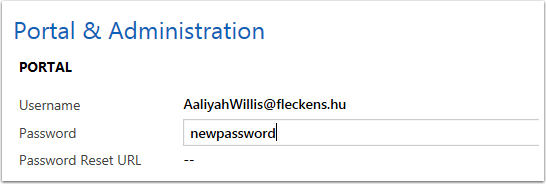 If you need to update a customer's password you can do so in CRM by typing the new password into the field.