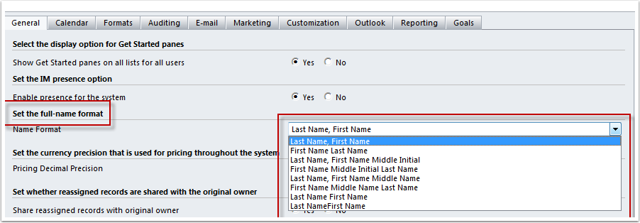 Formatting The Full Name Display Customer Support Portal