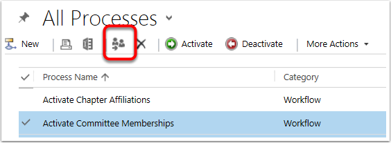 Select the workflow(s) you wish to reassign and click the Reassign Icon in the toolbar.