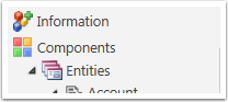 Click the downward arrow next to Entities to access all entities.