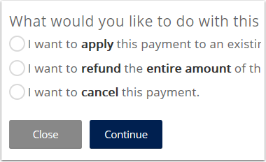 Select the cancellation option in the wizard.