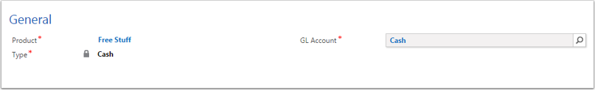 Product GL Accounts need to have a Type.
