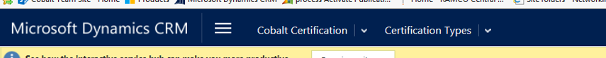 Navigate to the certification type in question (Cobalt Certification > Setup > Certification Types)