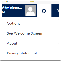 Access Personal Email Templates in by clicking the gear icon and selecting Options.