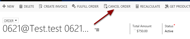 Return to the Order and Cancel the Order