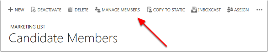 Select Manage Members in the command bar.