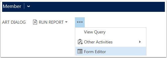 Use the more options button to View/Edit the Query