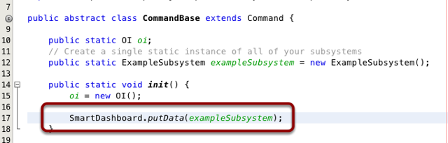 Writing the code to display a subsystem