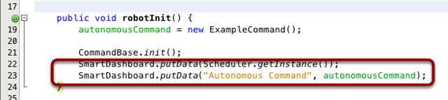 Code required to create a button to run a command