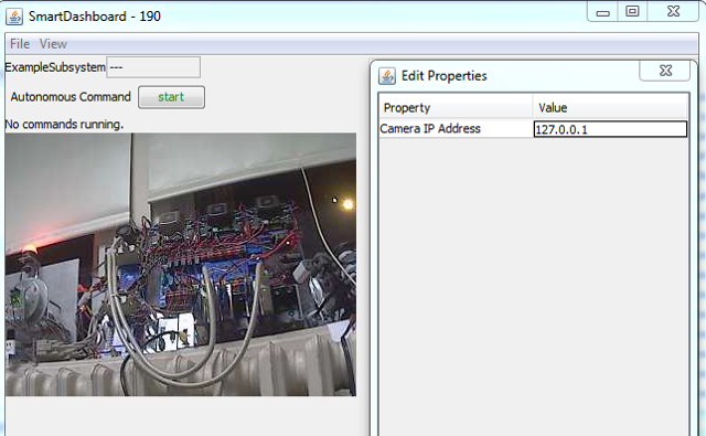 Set the camera plugin IP address