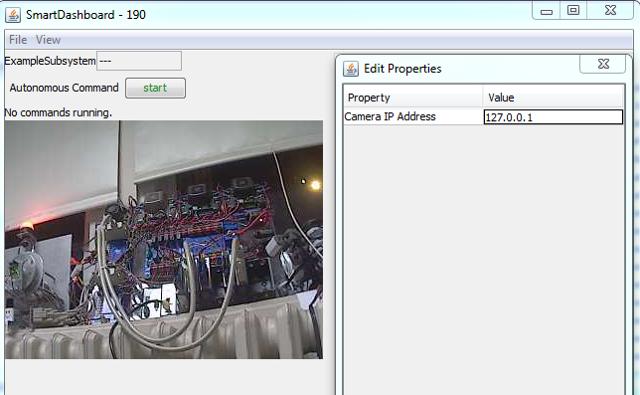 Set the camera plugin IP address