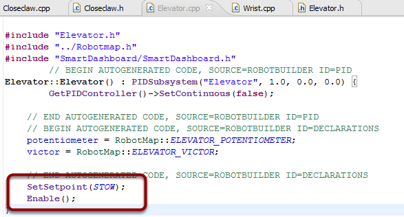 Initialize the elevator position in the Elevator constructor