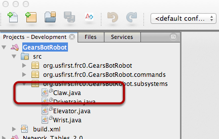 Open the project in Netbeans