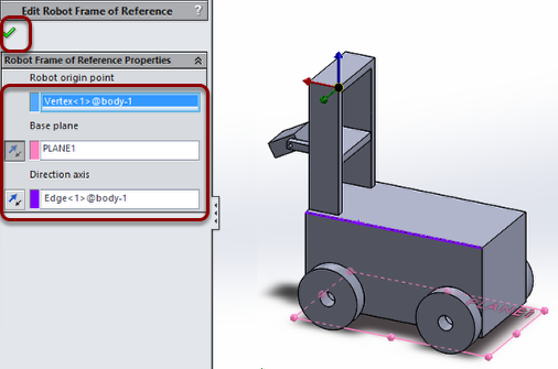 Set robot orientation