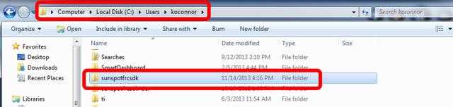 Delete the SunspotFRCSDK directory