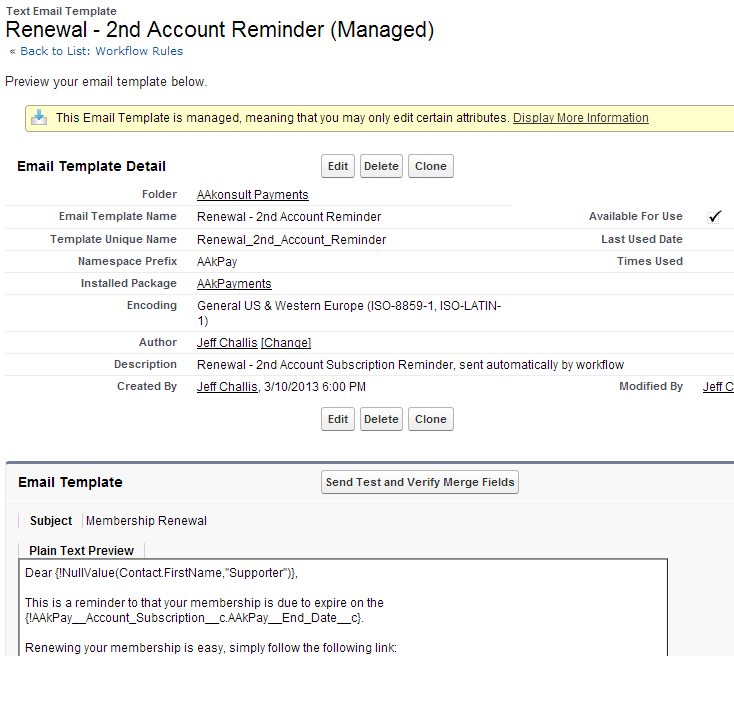 How to send out second automated reminders account level payments2us edit and test your template altavistaventures Choice Image
