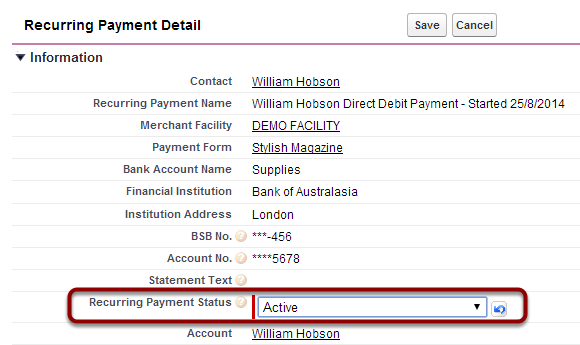 1.4. Change The Recurring Payment Status To Active And SAVE