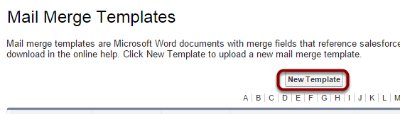 word mail merge template