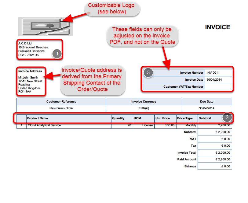 customizing the standard quote/invoice template | invoice it, Invoice examples