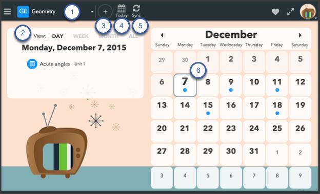 Calendar components