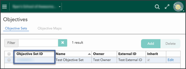 2) Add objectives to an objective set