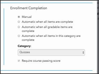 Configure continuous enrollment completion criteria
