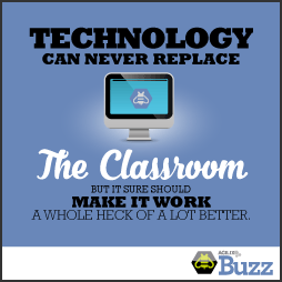 Technology can never replace the classroom, but it sure should make it work a whole heck of a lot better.
