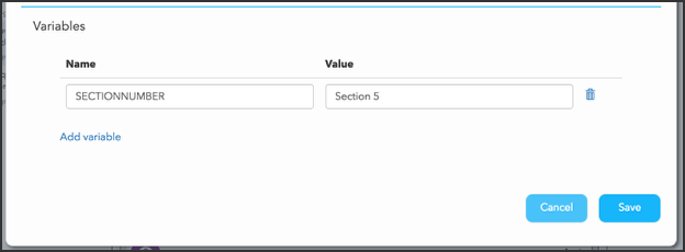 How do I create my own replacement variables?