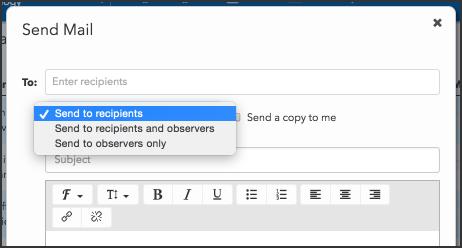 Teachers email observers
