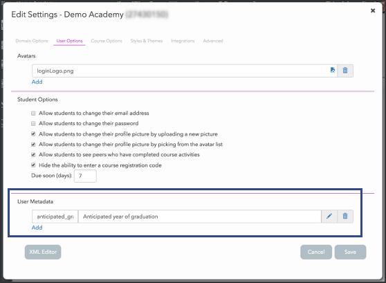 Admins can create User Metadata