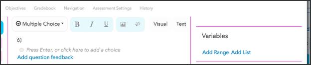 Create a variable List