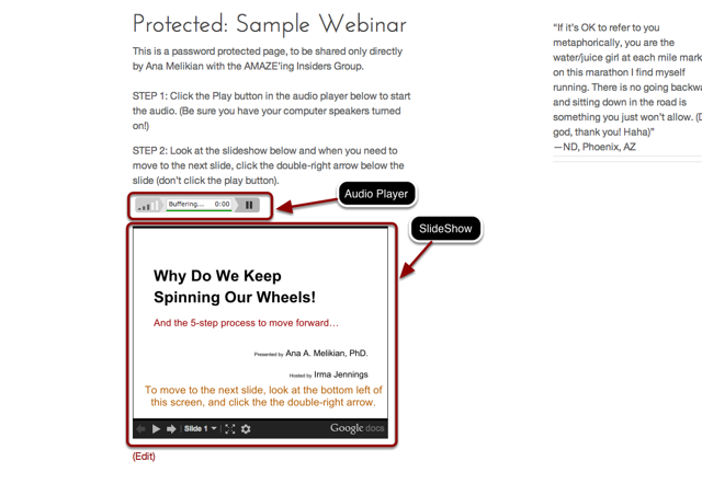 How To Have a Google Presentation or Slide Show Playing in Your