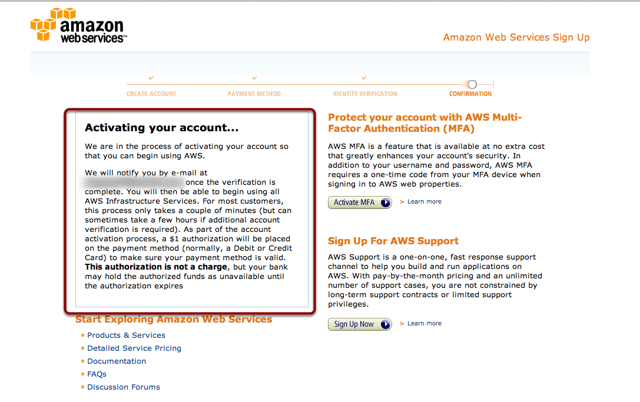 Setting up an Amazon S3 Account