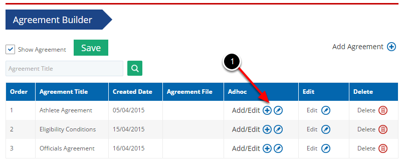 Adding Adhoc Questions to Agreements