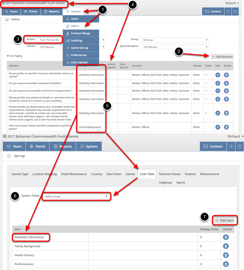 Learn how to create Adhoc groups by following the screen steps below: