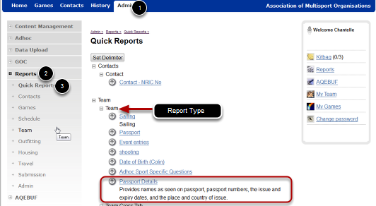Quick Reports