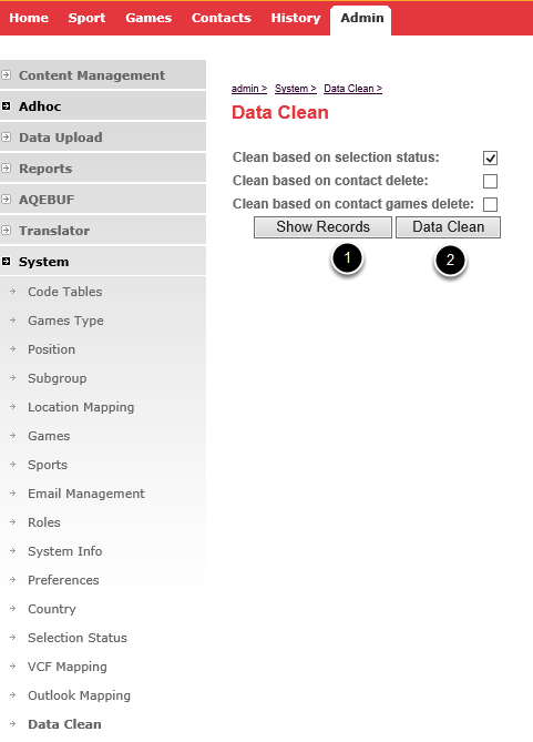 Step 1 - Go to the Data Clean Tool