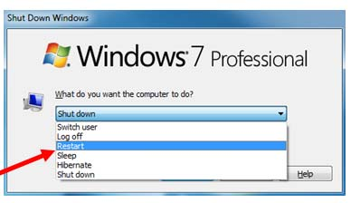 Step 8 - Restart computer