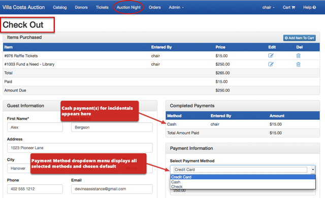Payment methods accepted, as they appear on check-out page: