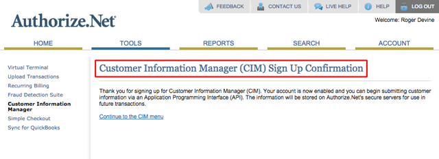 B. Confirm that CIM has been enabled: