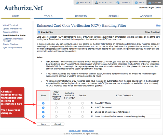 Card Code Verification (CCV):
