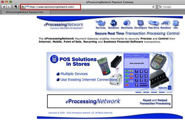 1. Go to eProcessingNetwork website (link below):