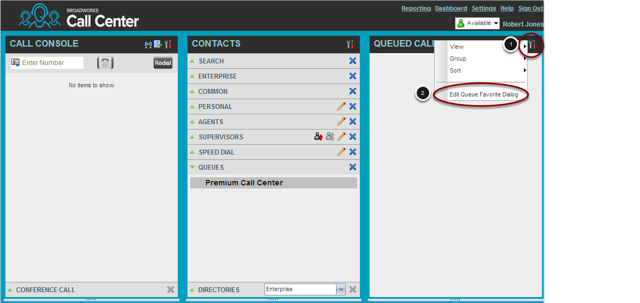 Enabling the Queued Calls view