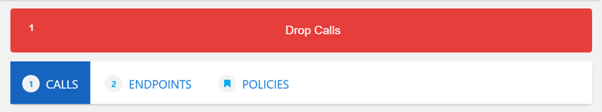 If a call is active you can select drop calls to disconnect the call.