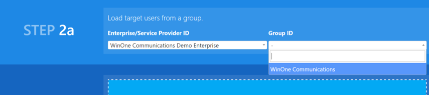 Select the enterprise and group that requires the recipe