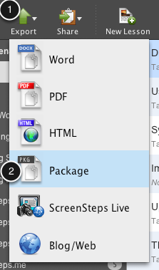 Export a Package